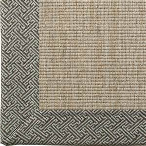 geometric border wool sisal rug 4 colors rugs by