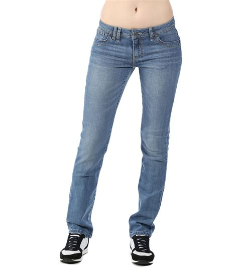 bench skinny jeans bench soundboard v11 straight leg jeans in blue denim mid