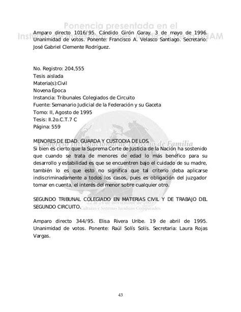 ejemplo de carta de custodia temporal guardia y custodia de los menores en juicio