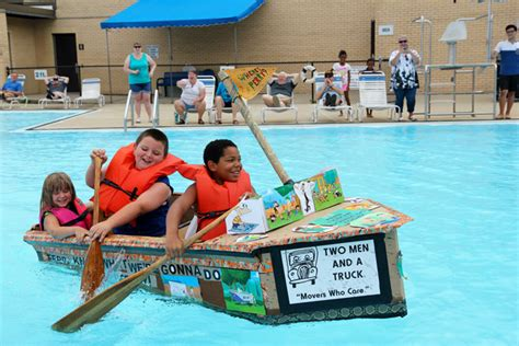 cardboard boat race fails cardboard boat regatta at the des plaines park district