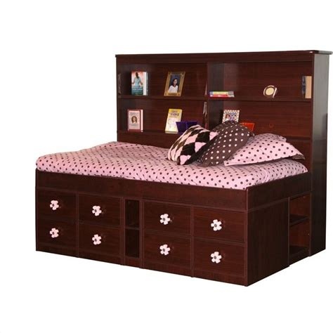22 Wide Bookcase Berg Furniture Wide Bookcase Headboard In Multi