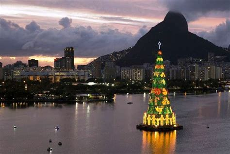 christmas trees in brazil news brazil floating tree de janeiro