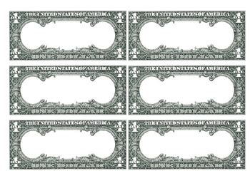 blank dollar bill flashcards template by mary mcgowan tpt