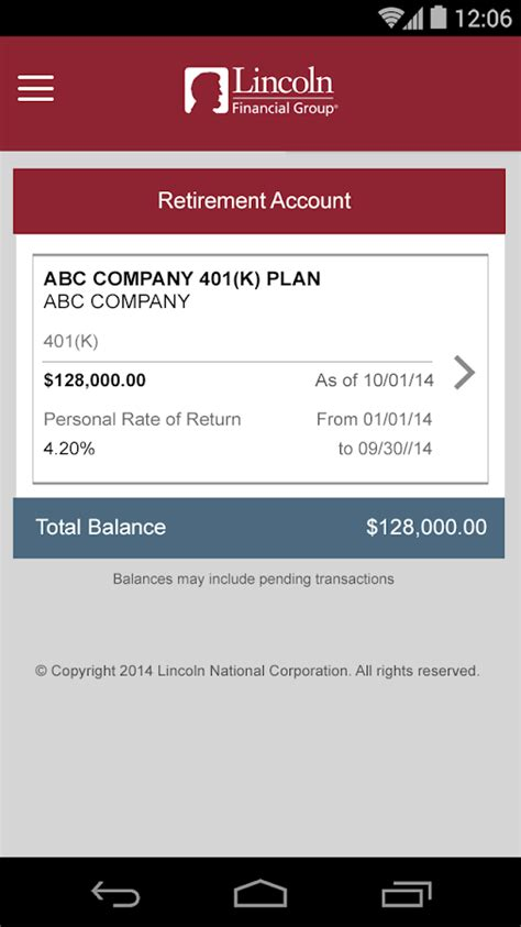 lincoln financial mobile android apps on play