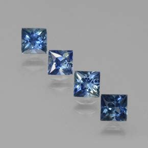 Blue Safir Sapphire 3 4ct blue sapphire 1 4ct square from madagascar gemstones