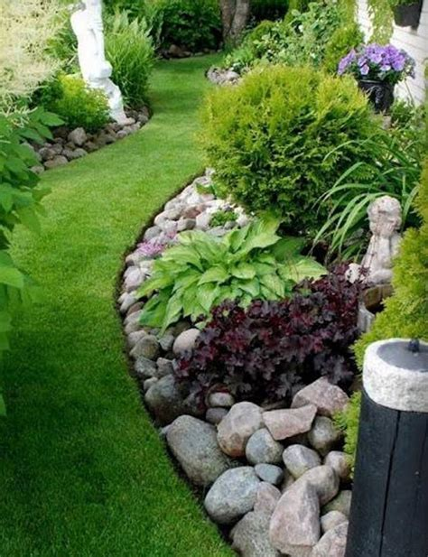 River Bed Landscape by Landscaping With River Rock River Rock Garden Ideas