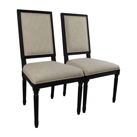 Restoration Hardware Chairs Dining 68 Restoration Hardware Restoration Hardware Pair Of Vintage Square Fabric Chairs