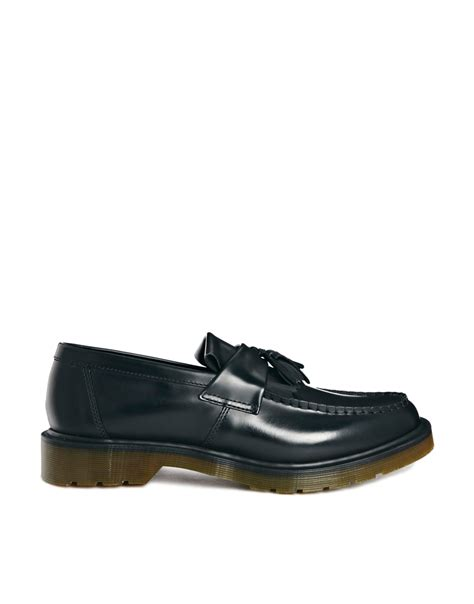 dr martens loafers with tassels dr martens adrian tassel loafers in black for lyst