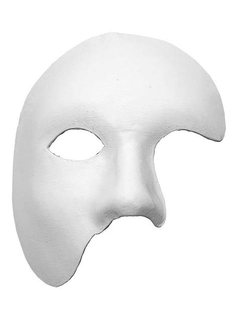 phantom white venetian leather mask