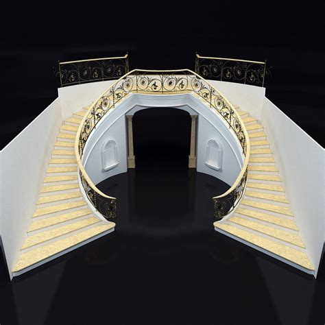 marble staircase classical marble staircase 3d model max obj mtl cgtrader