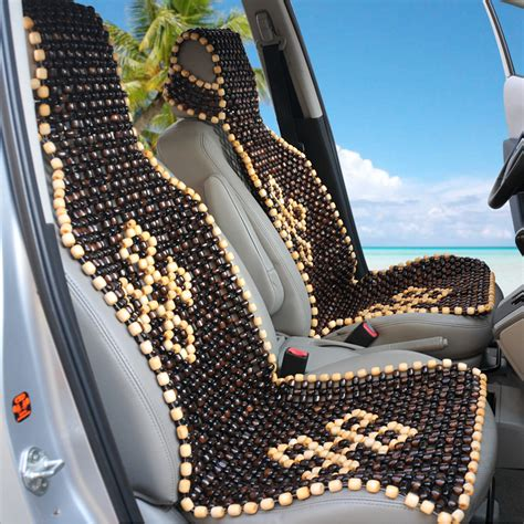 car marble bead seat single car seat summer knitted wood bead seat