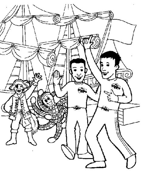 wiggles coloring pages free the wiggles coloring pages