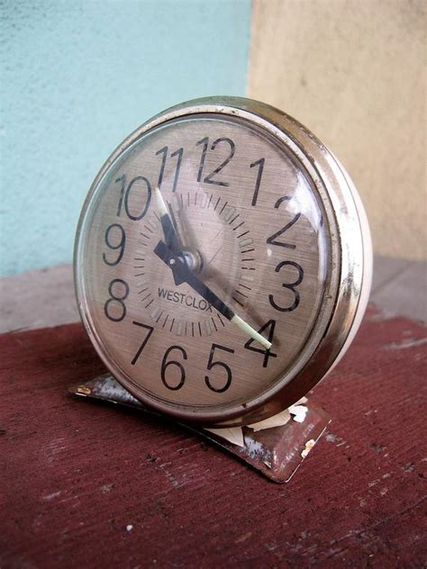 vintage alarm clock westclox glow in the with by quietrainz