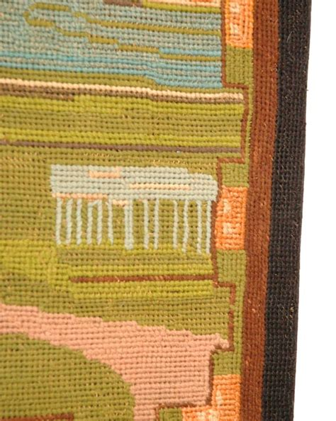 Pa Rug by 1930 S Pictorial Mounted Yarn Hooked Rug From Pennsylvania