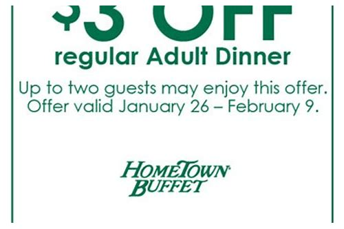 hometown buffet crave connection coupons
