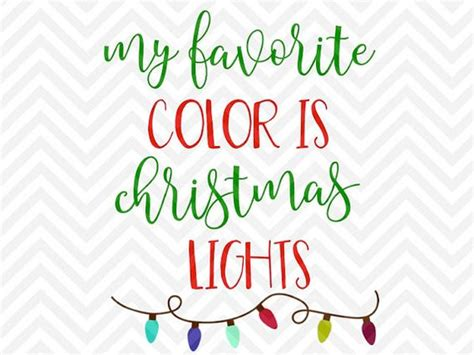 what is my color season my favorite color is lights svg and dxf cut file