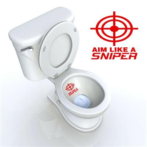 toilet seat decal aim   sniper target bathroom decal