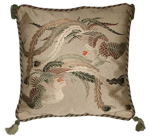 Japanese Pillow by Antique Dcor Fukusa Decorative Accent Pillow With