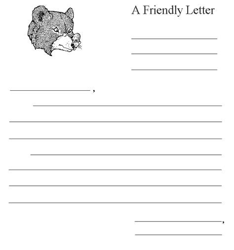 grade friendly letter template 9 friendly letter format printable invoice template