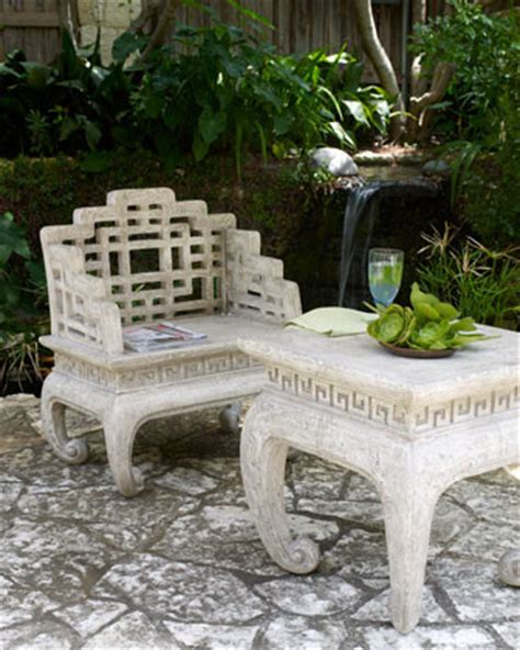 horchow outdoor furniture fretwork table and chair asian patio furniture and outdoor furniture by horchow