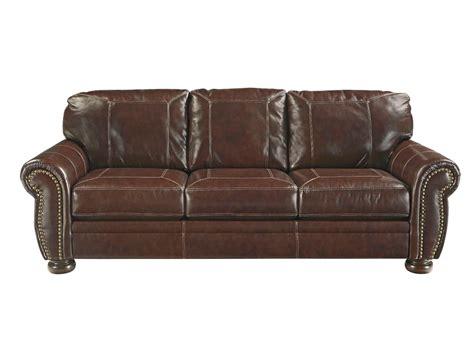 signature leather sofa signature design by ashley living room banner leather sofa