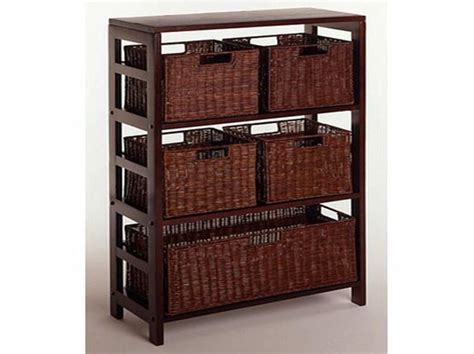 storage baskets for shelves with five baskets storage