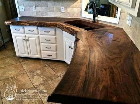 unique countertop ideas pure walnut slab countertop beautiful and unique you don