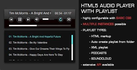 html5 player template html5 audio player with playlist v3 35 free