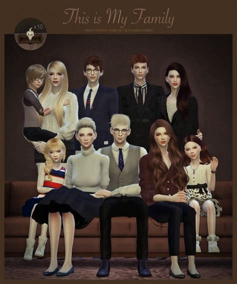 Family Portrait Poses by Family Portrait Poses Set At Flower Chamber 187 Sims 4 Updates