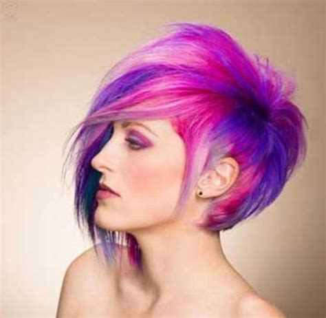colorful short hair styles 2016 short hair color trends the best short hairstyles
