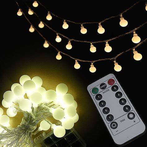 Timer Usicig Led Dimmable Flickering String Lights 8 Flickering String Lights
