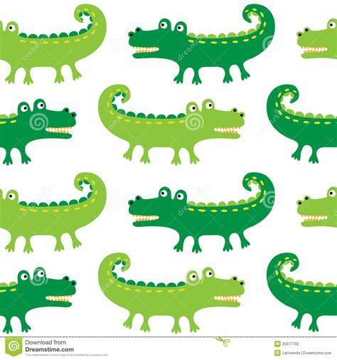 cartoon crocodiles seamless pattern stock vector image