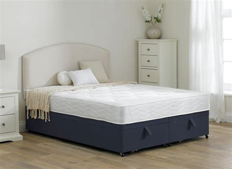 bed soft halliday traditional spring ottoman divan bed soft blue