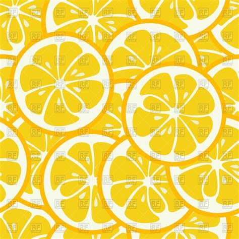 cute lemon pattern cute seamless pattern with lemon slices royalty free
