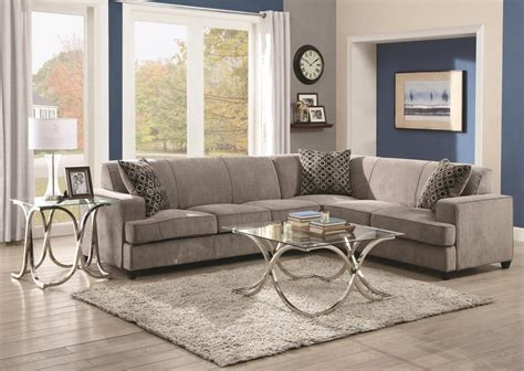 grey sleeper sectional coaster 500727 grey fabric sectional sleeper sofa steal