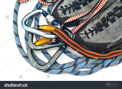 rope climbing shoes climbing equipment carabiners ropes and climbing shoes