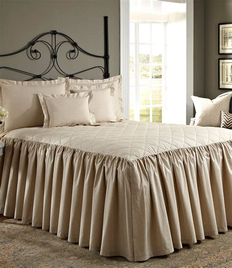 bed quilts and coverlets noble excellence villa quilted ruffled bedspread dillards