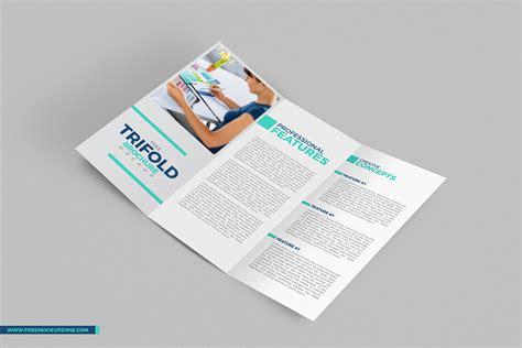 free design mockup brochure free tri fold brochure mockup
