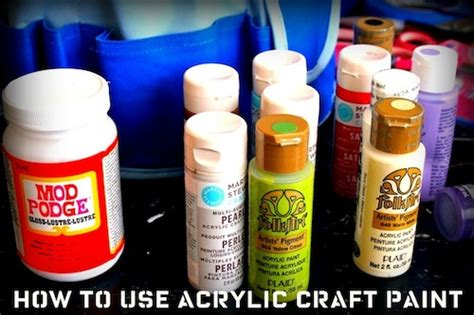 can you use acrylic paint on a canvas 8 tips for how to use acrylic paint mod podge rocks
