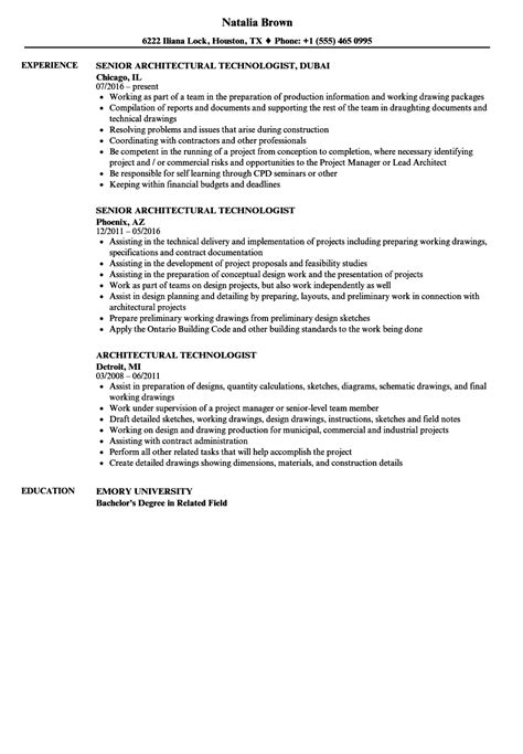 sle cv architectural technologist architectural technologist resume resume ideas