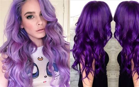 permanent purple hair color purple hair dye hair color trends