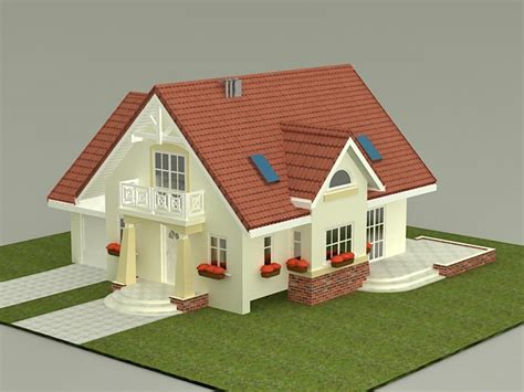 house plans 3d models small house plan 3d model 3ds max files free download modeling 38233 on cadnav
