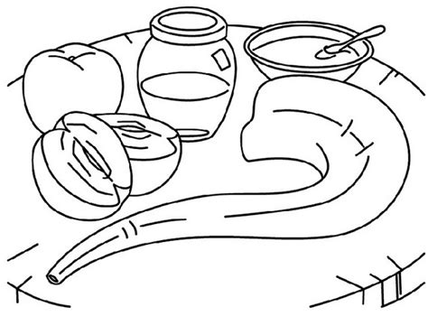 rosh hashanah printable coloring pages