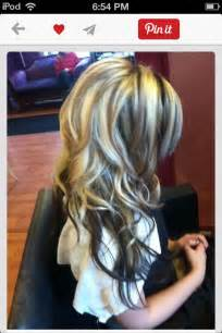 hair styes dye at bottom hair color blonde on top dark underneath