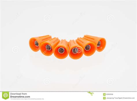 white wire nuts wire nuts are isolated stock photo image 62932558