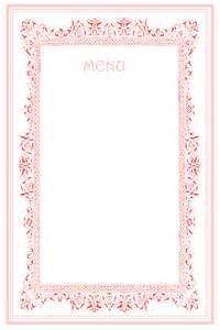 7 best images of party menu templates printable wedding