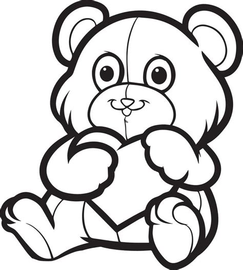 valentines teddy drawing free printable s day teddy coloring page