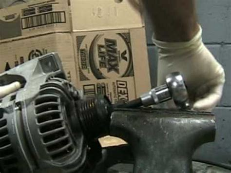 alternator pulley clutch tool removal youtube