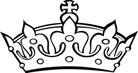 Crown Black And White Clipart blacknwhite crown clip at clker vector clip royalty free domain
