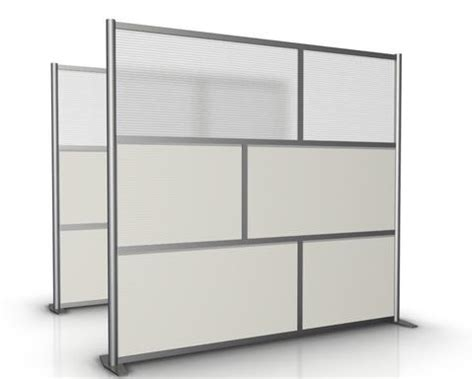 """84"""" wide x 75"""" high office partition wall, white"""